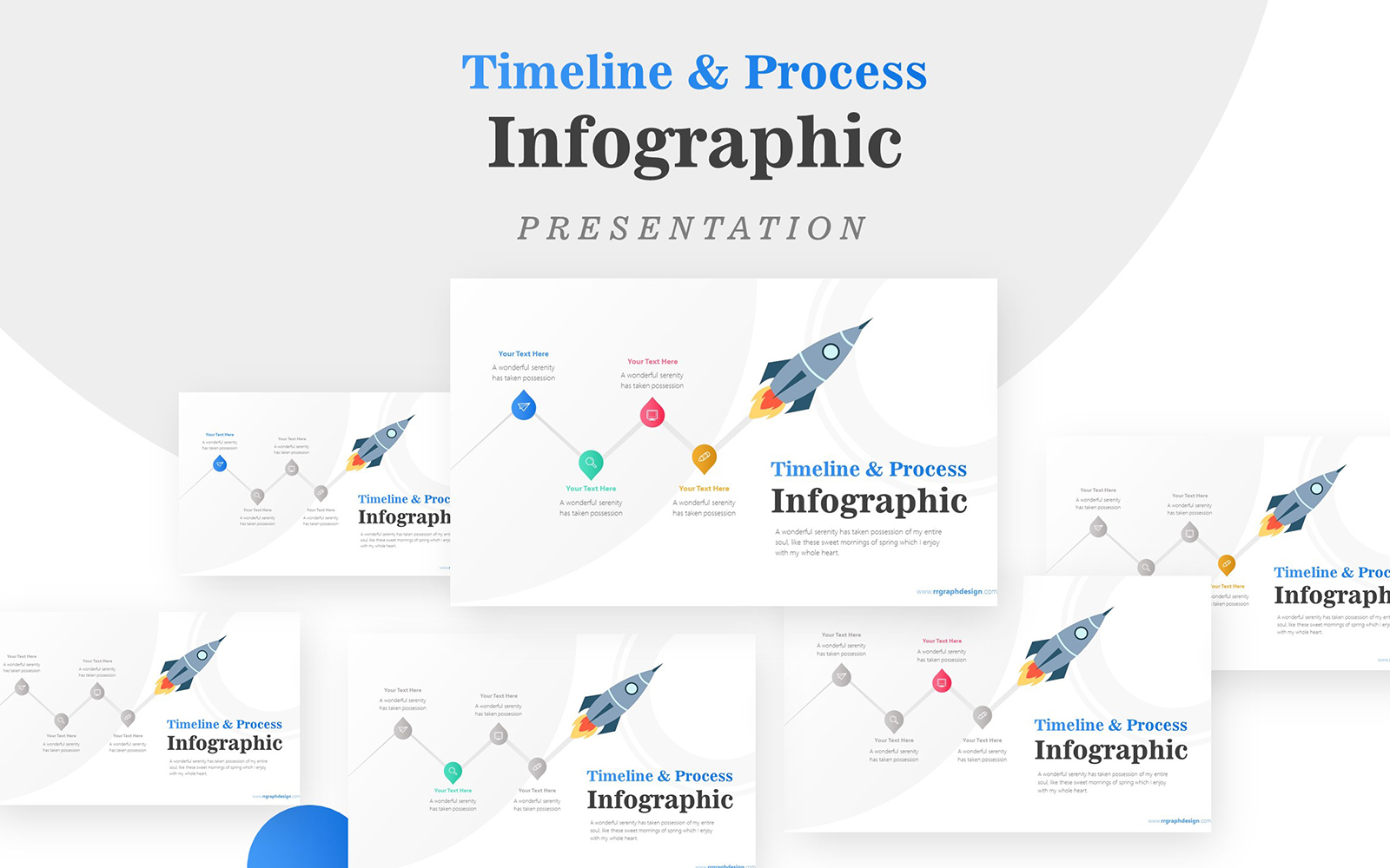 Business Diagram Rocket Infographic Presentation PowerPoint Template