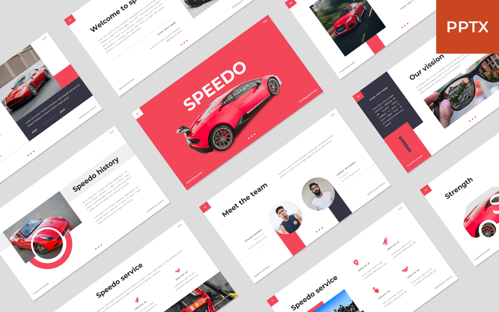 Speedo - Car PowerPoint Template