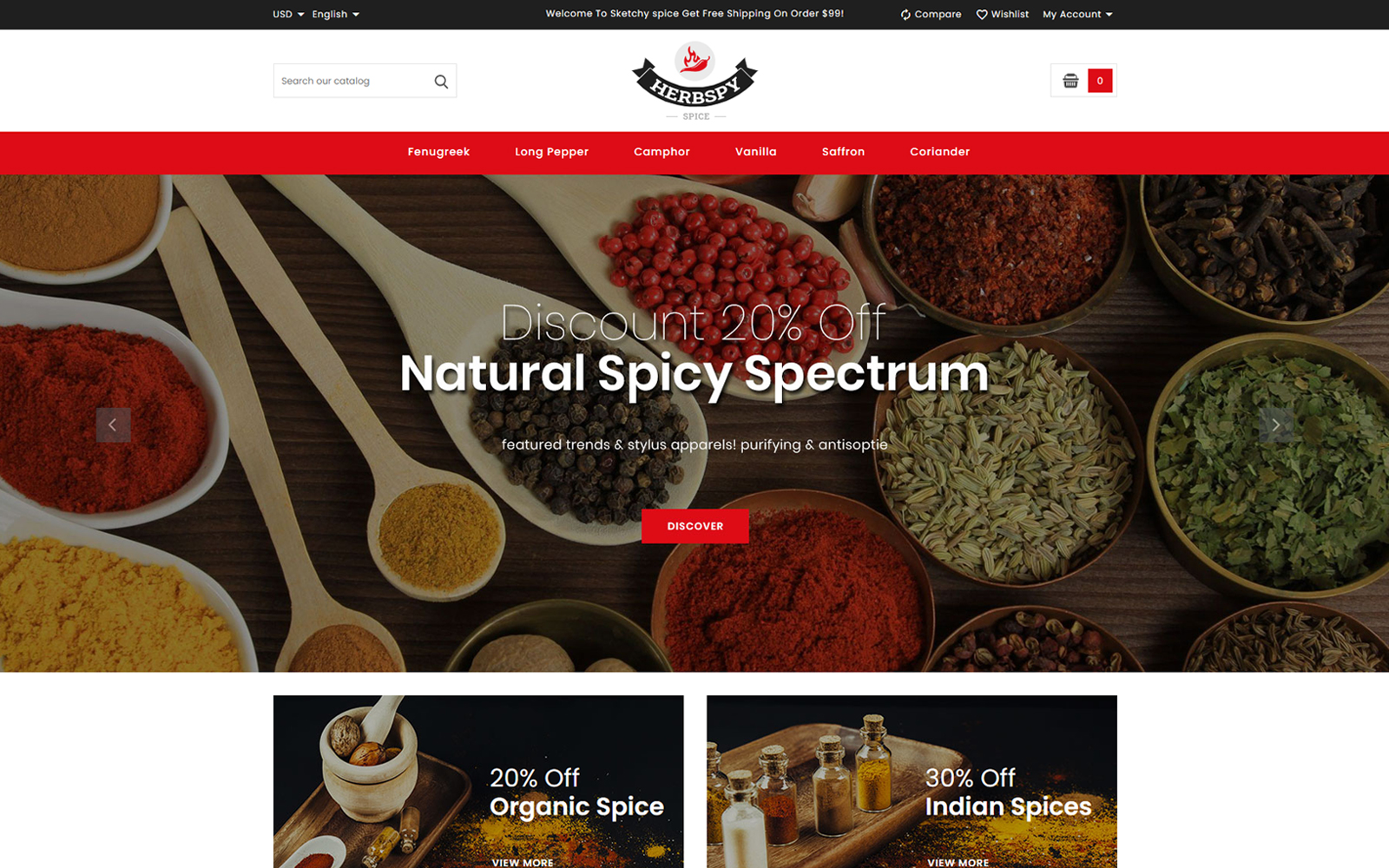 Herbspy - Spice and Food Store PrestaShop Theme