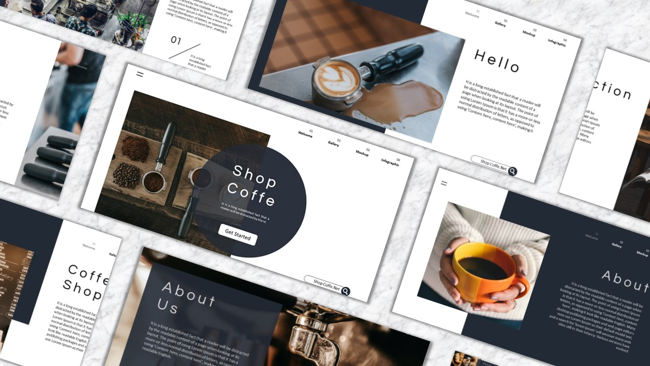 Shop Cofee PowerPoint Template