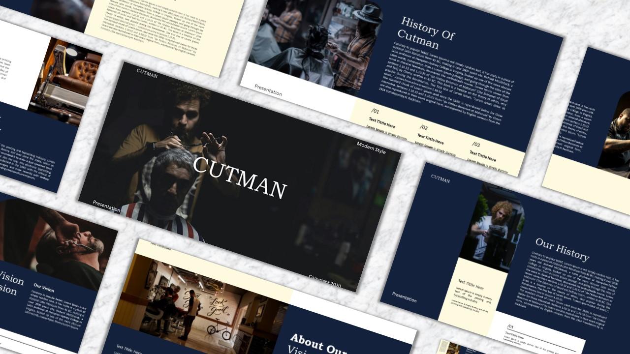 Cutman PowerPoint Template