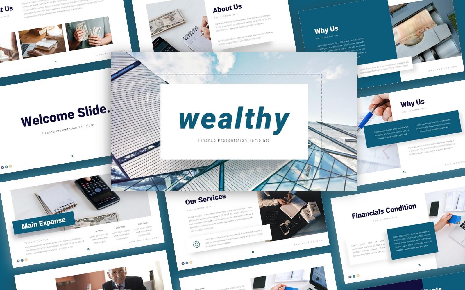 Wealthy Finance Presentation PowerPoint Template