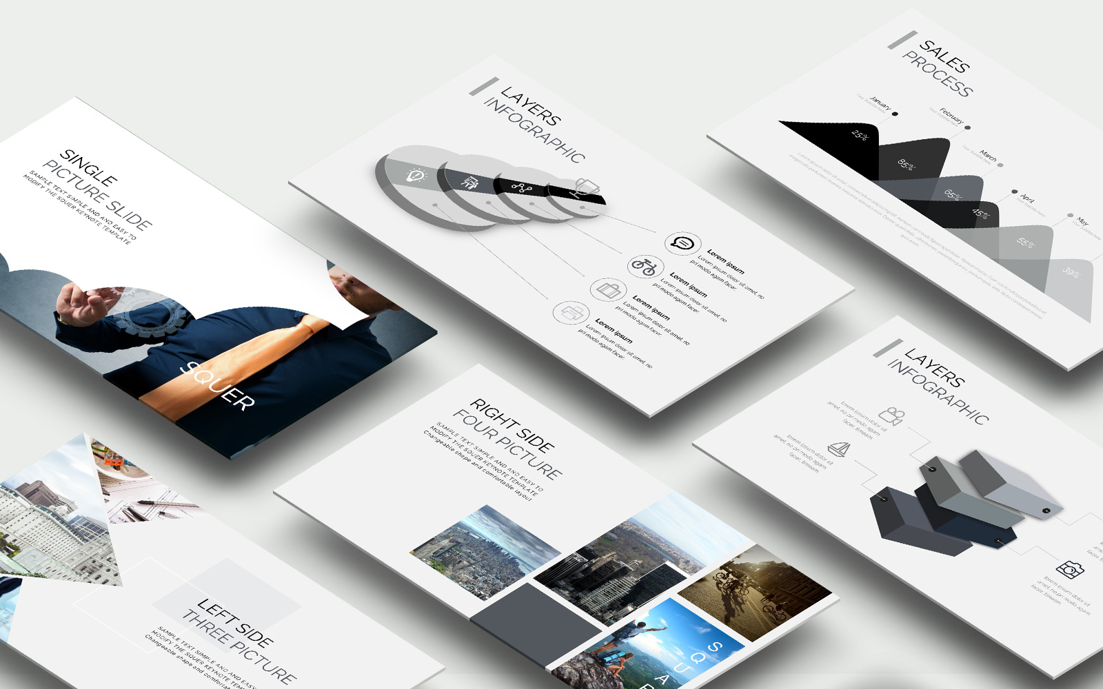 Squar Presentation PowerPoint Template