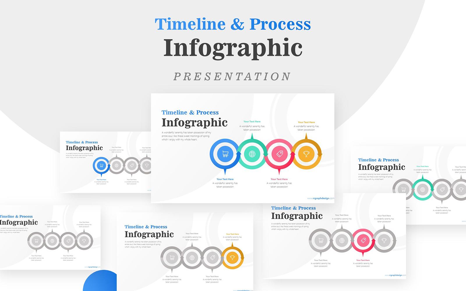 Circular Arrow Infographic Presentation PowerPoint Template