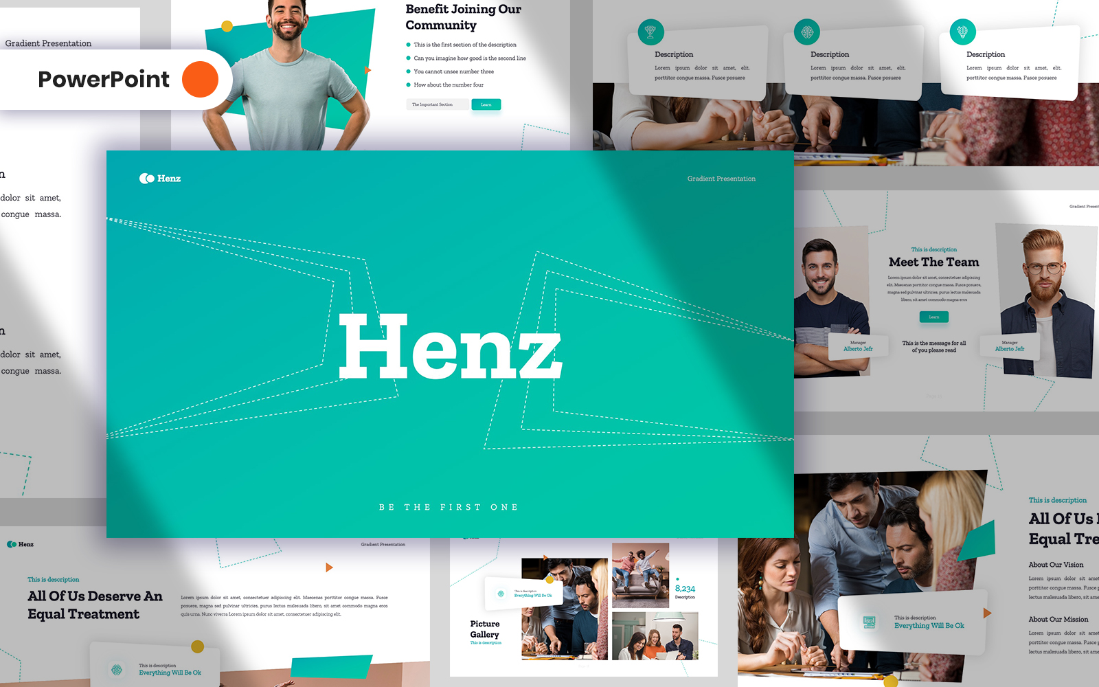 Henz Business PowerPoint Template