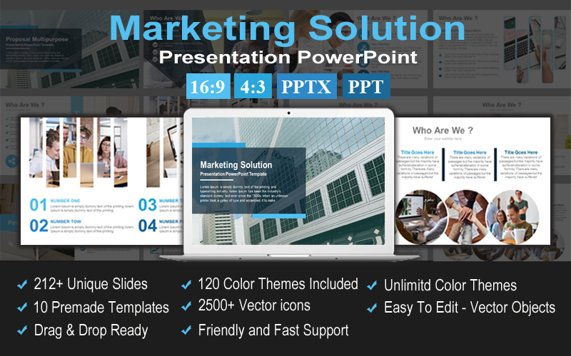 Marketing Solution Presentation PowerPoint Template