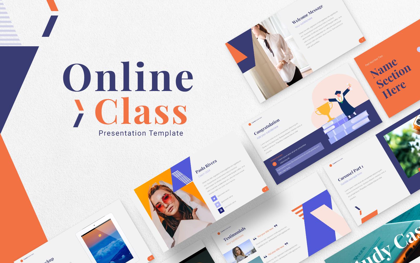 Online Class  Presentation PowerPoint template