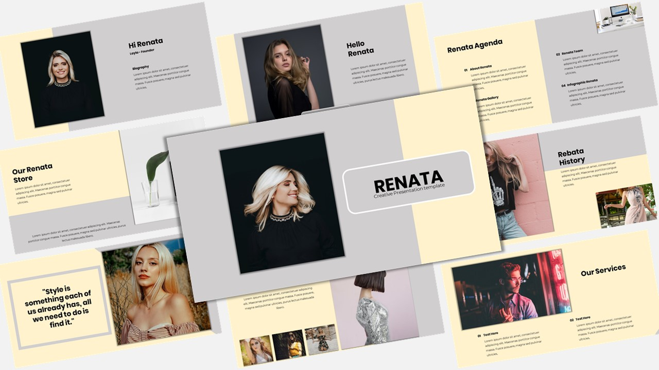 Renata - Creative Business PowerPoint Template