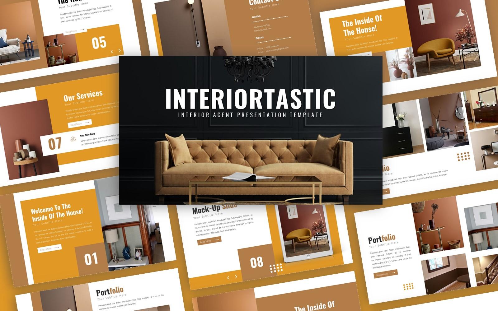 Interiortastic Interior Presentation PowerPoint Template