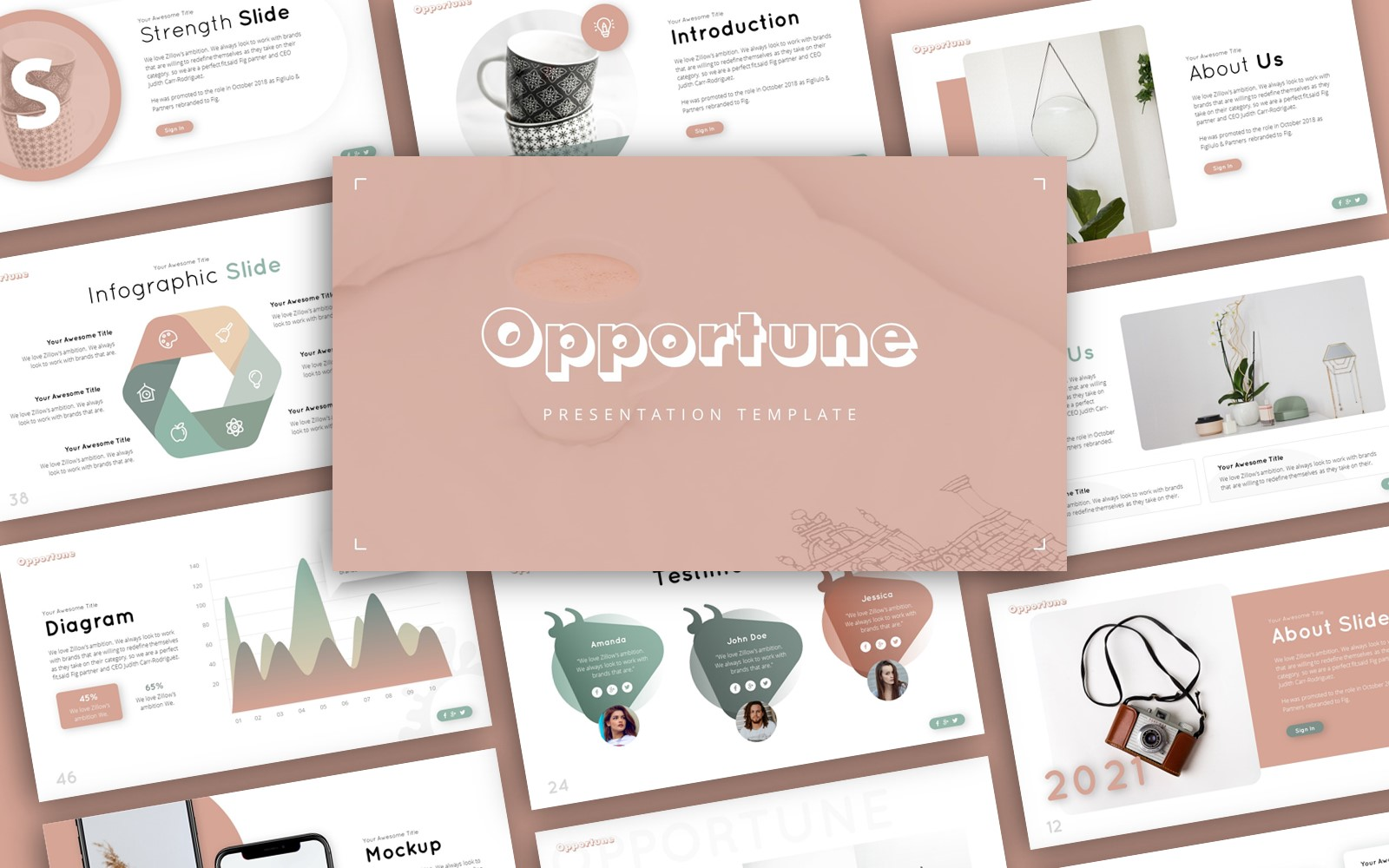 Opportune Multipurpose Presentation PowerPoint Template