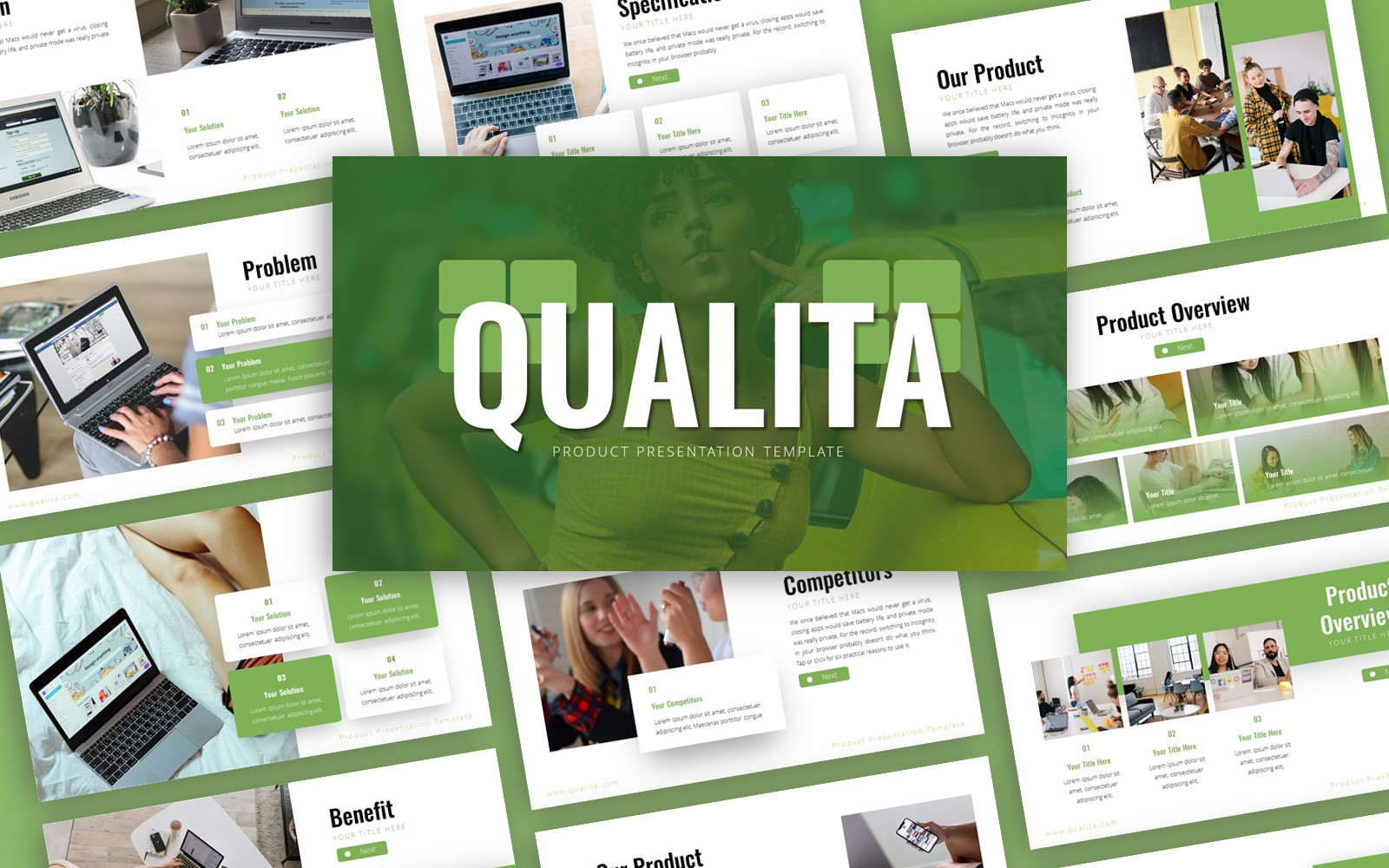 Qualita Product Presentation PowerPoint Template