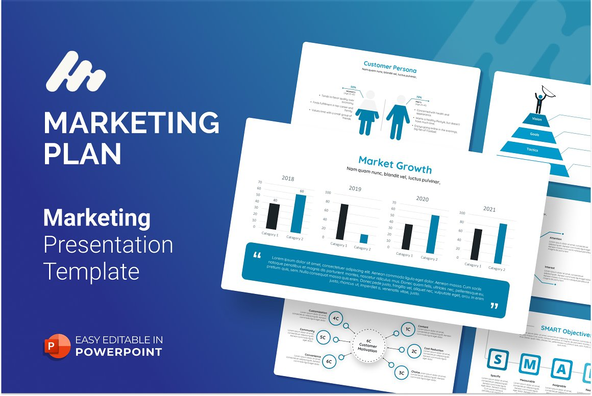 Marketing Plan Presentation PowerPoint Template