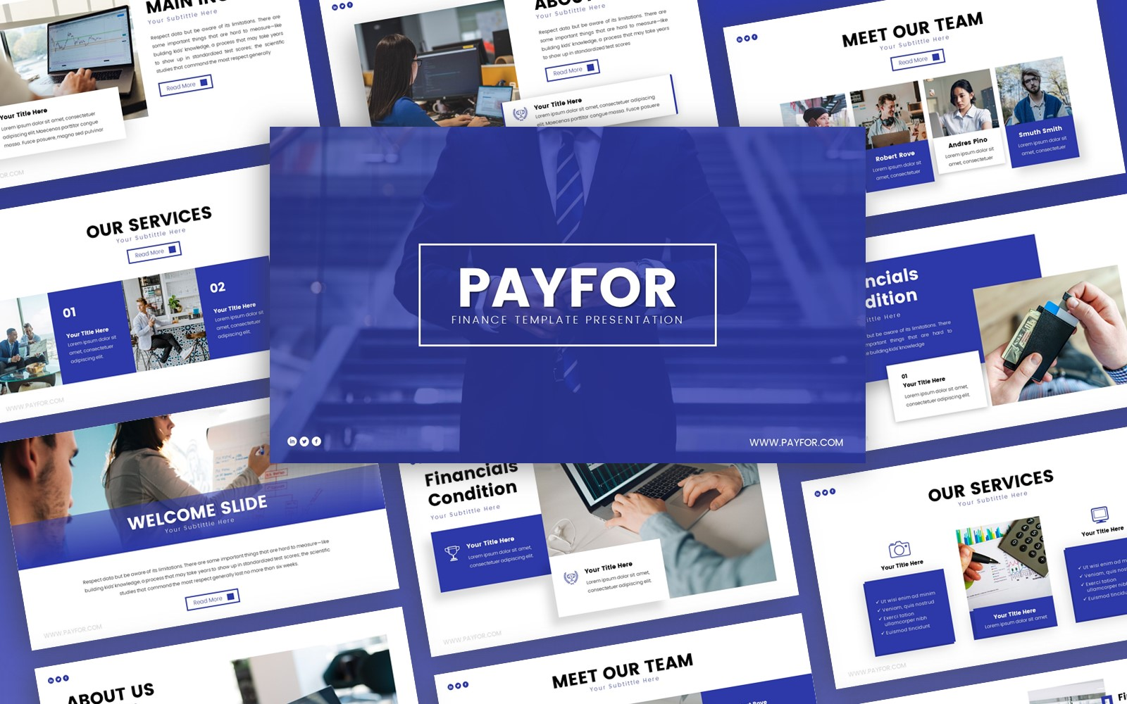 Payfor Finance Presentation PowerPoint Template