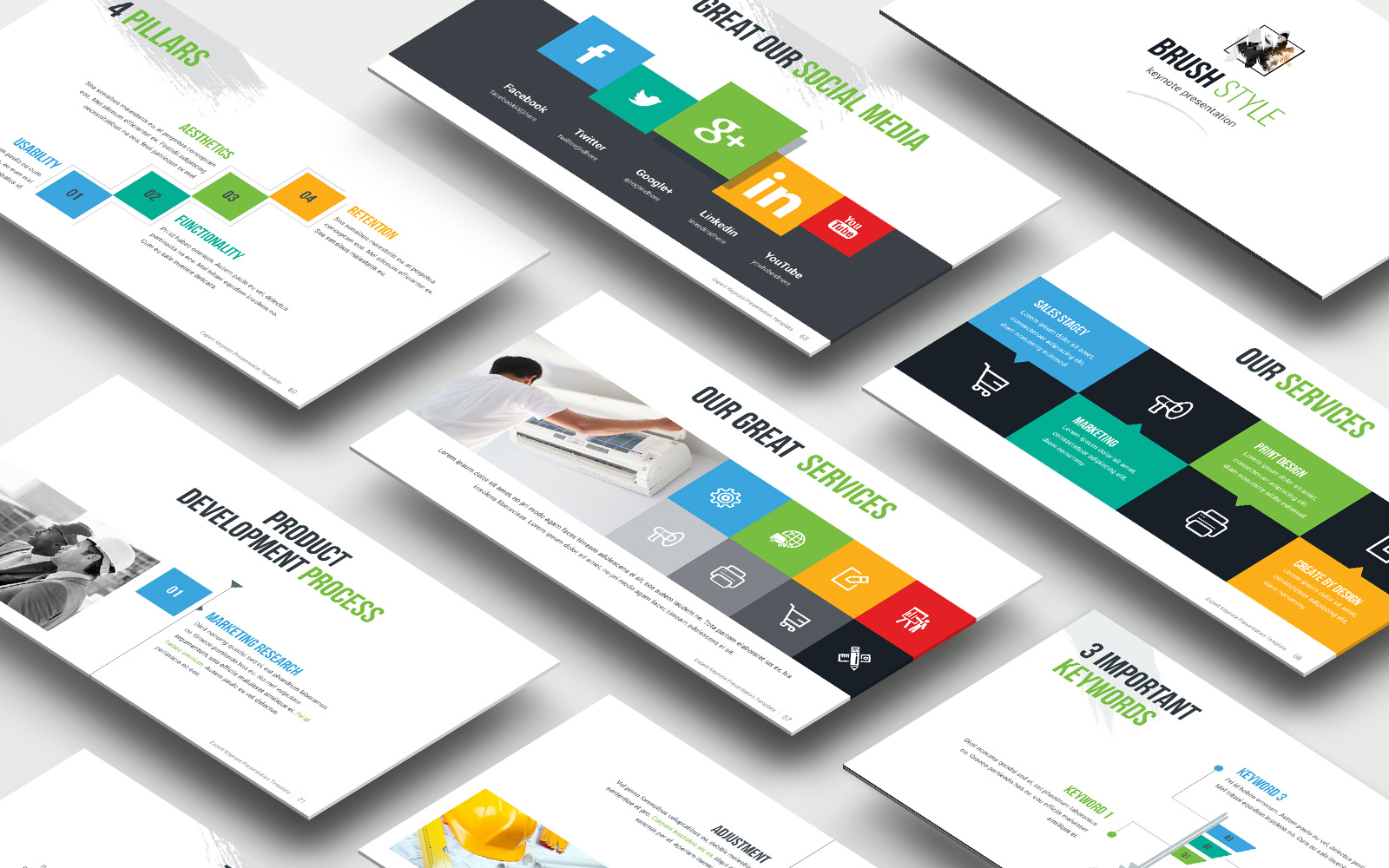 Expart  Presentation Bright Variation PowerPoint Template
