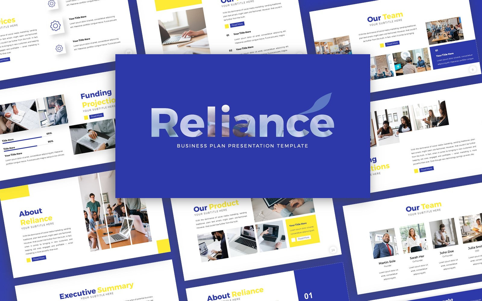 Reliance Business Presentation PowerPoint Template