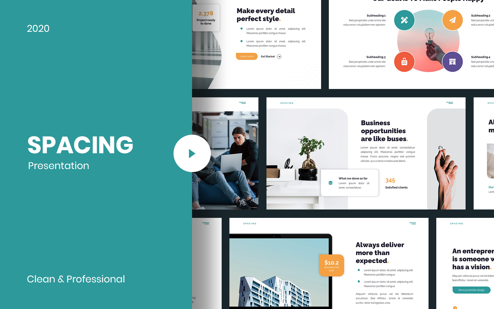 Spacing Creative PowerPoint template