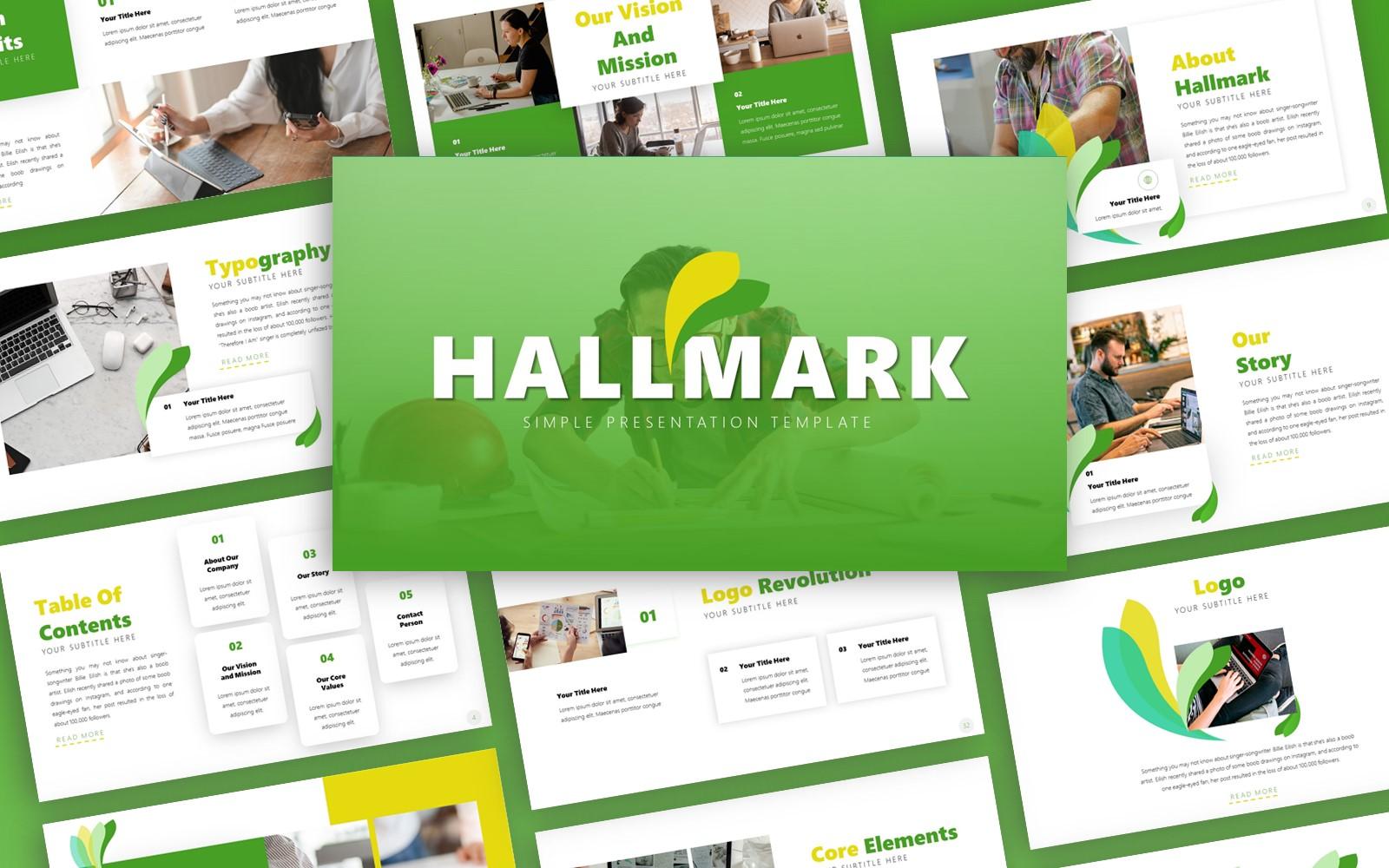 Hallmark Brand Guidelines Presentation PowerPoint Template