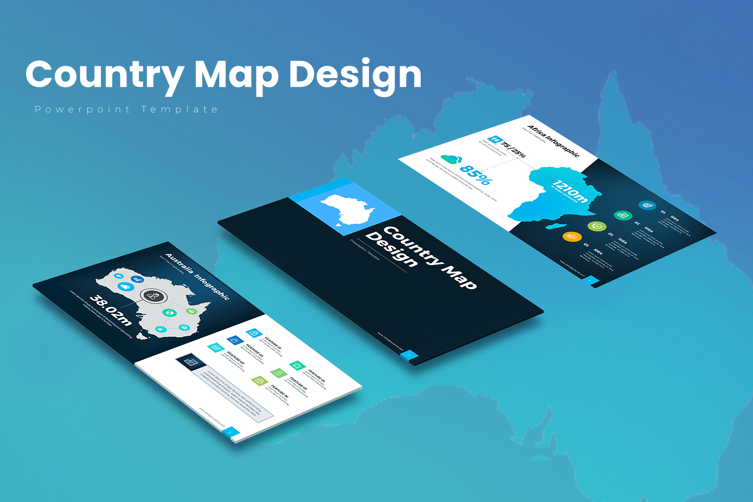 Country Map PowerPoint Template