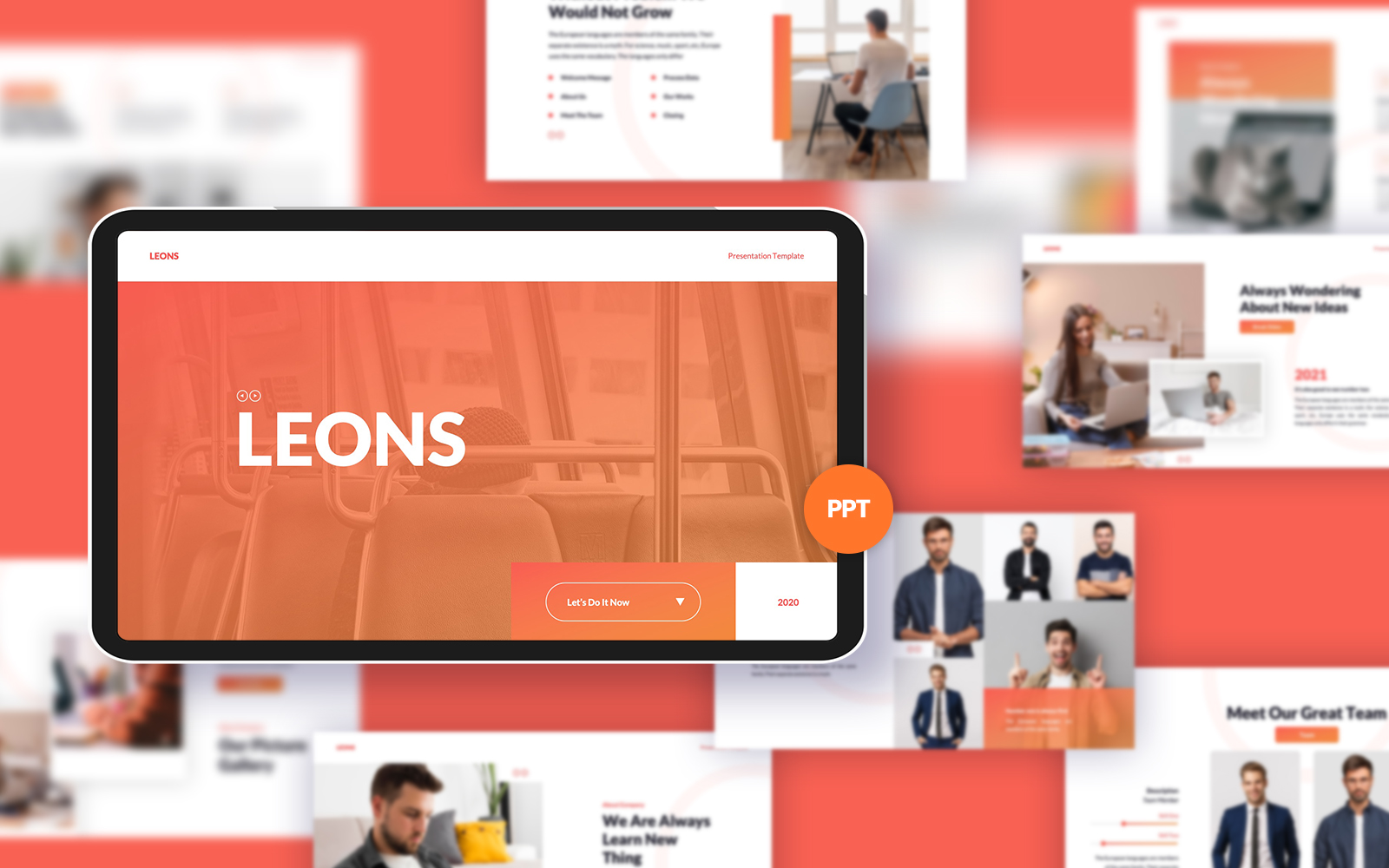 Leons Business PowerPoint Template