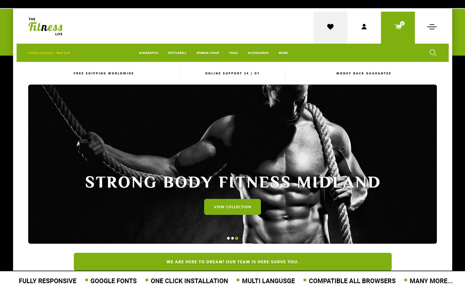 Fitnesslife - Beauty Store OpenCart Template