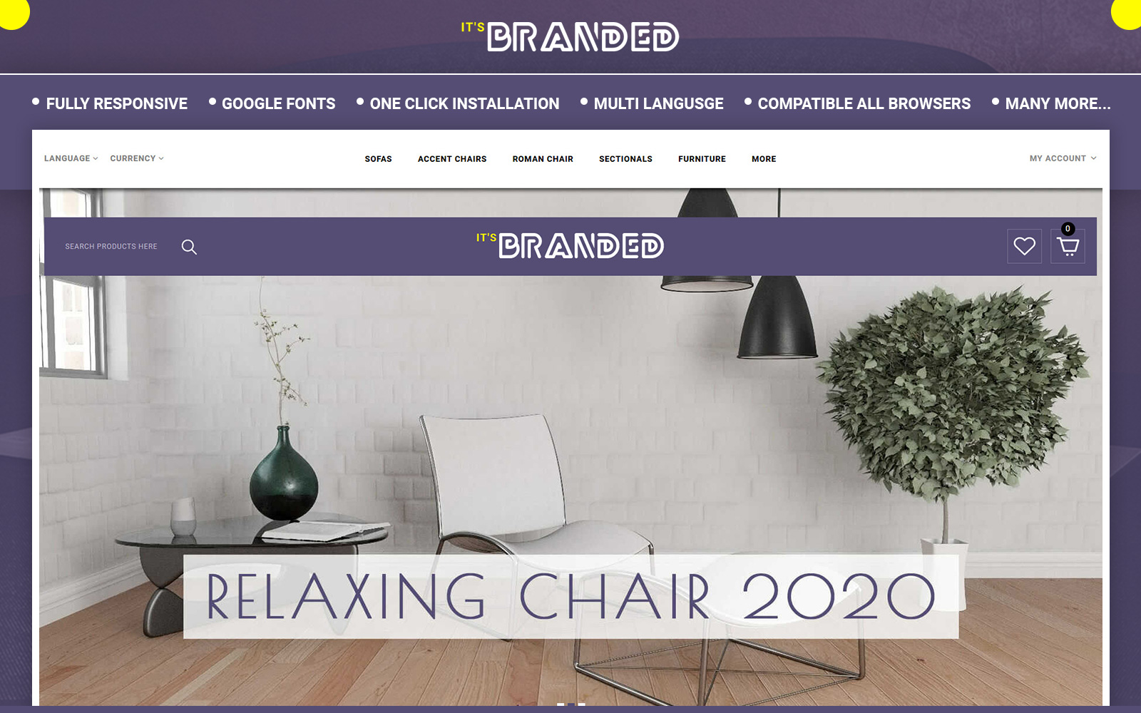 Branded - Furniture Store OpenCart Template