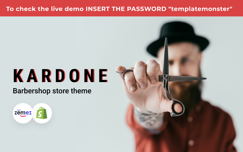 Kardone Barbershop eCommerce Template Shopify Theme