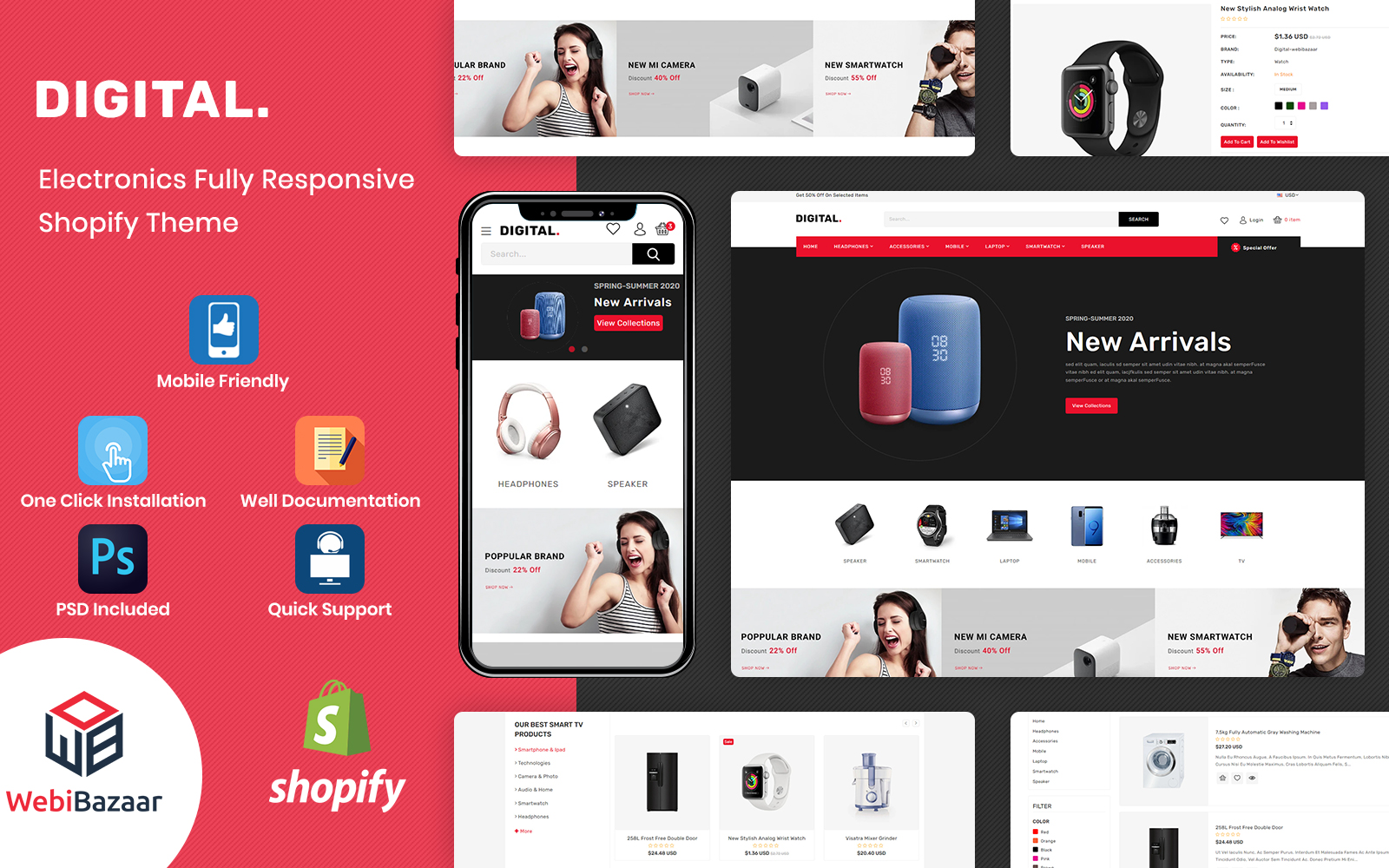Digital - Multipurpose Electronics Shopify Theme