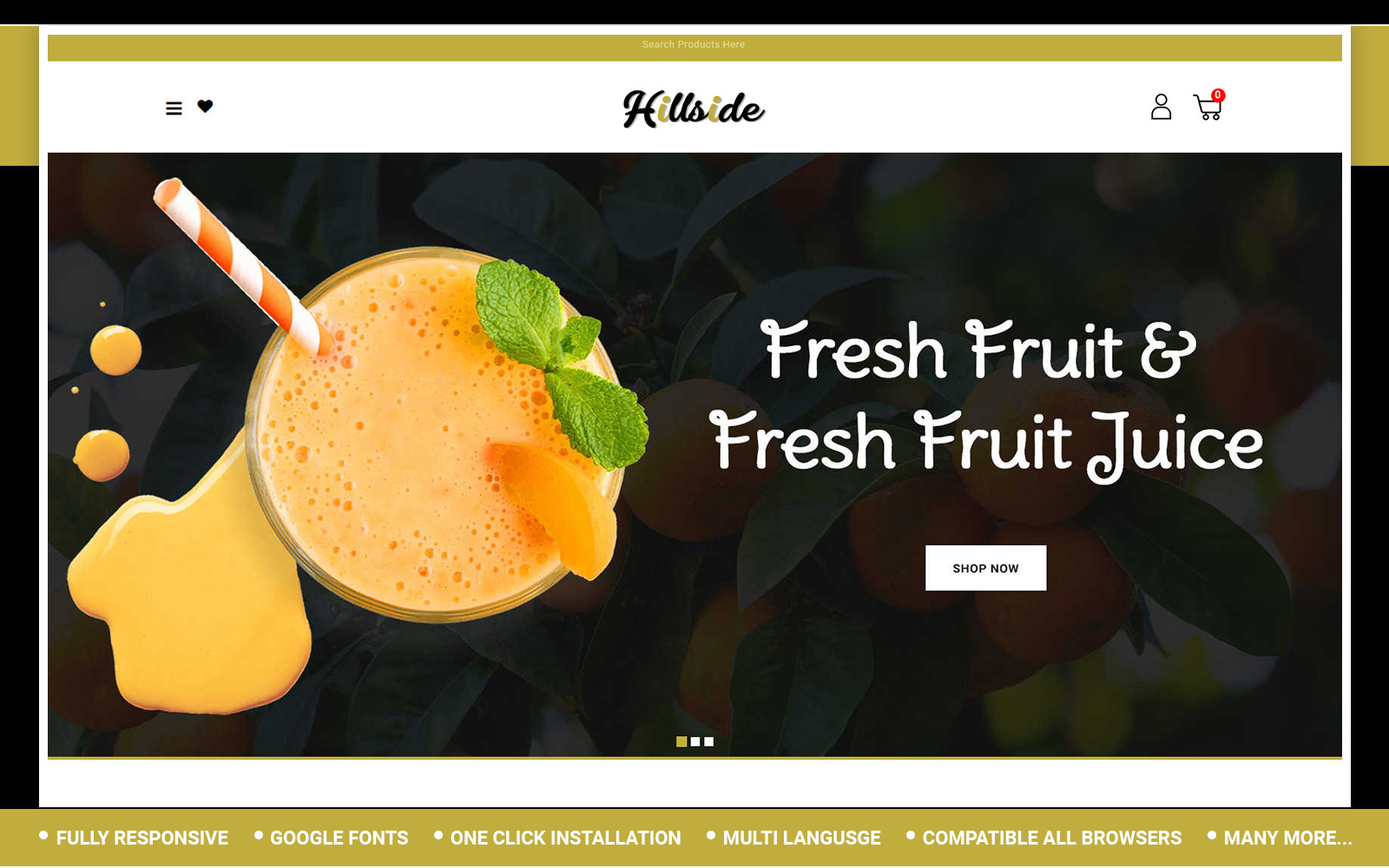 Hillside - Fruit Store OpenCart Template