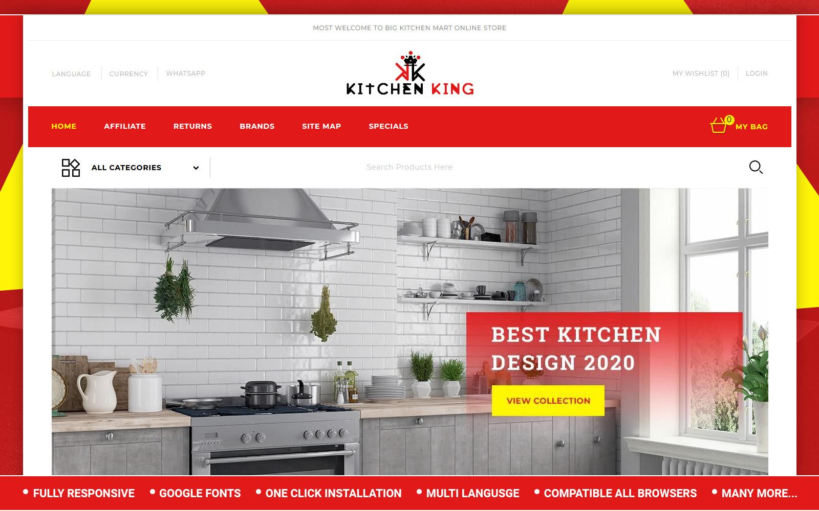 Kitchenking - Kitchen Store OpenCart Template