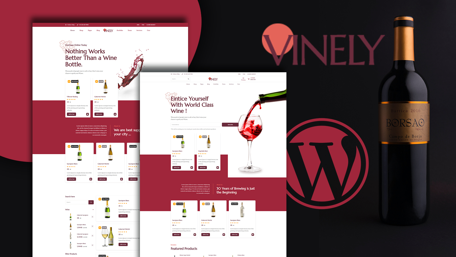 Vinely - Wine Shop WooCommerce Theme