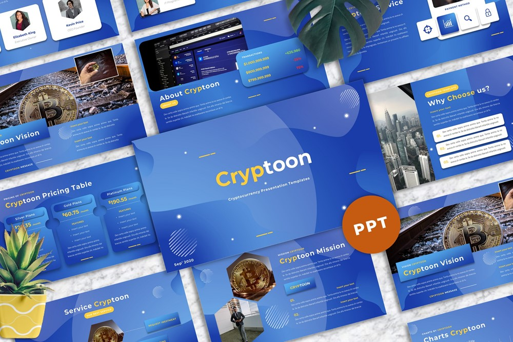 Cryptoon - Cryptocurrency PowerPoint Template