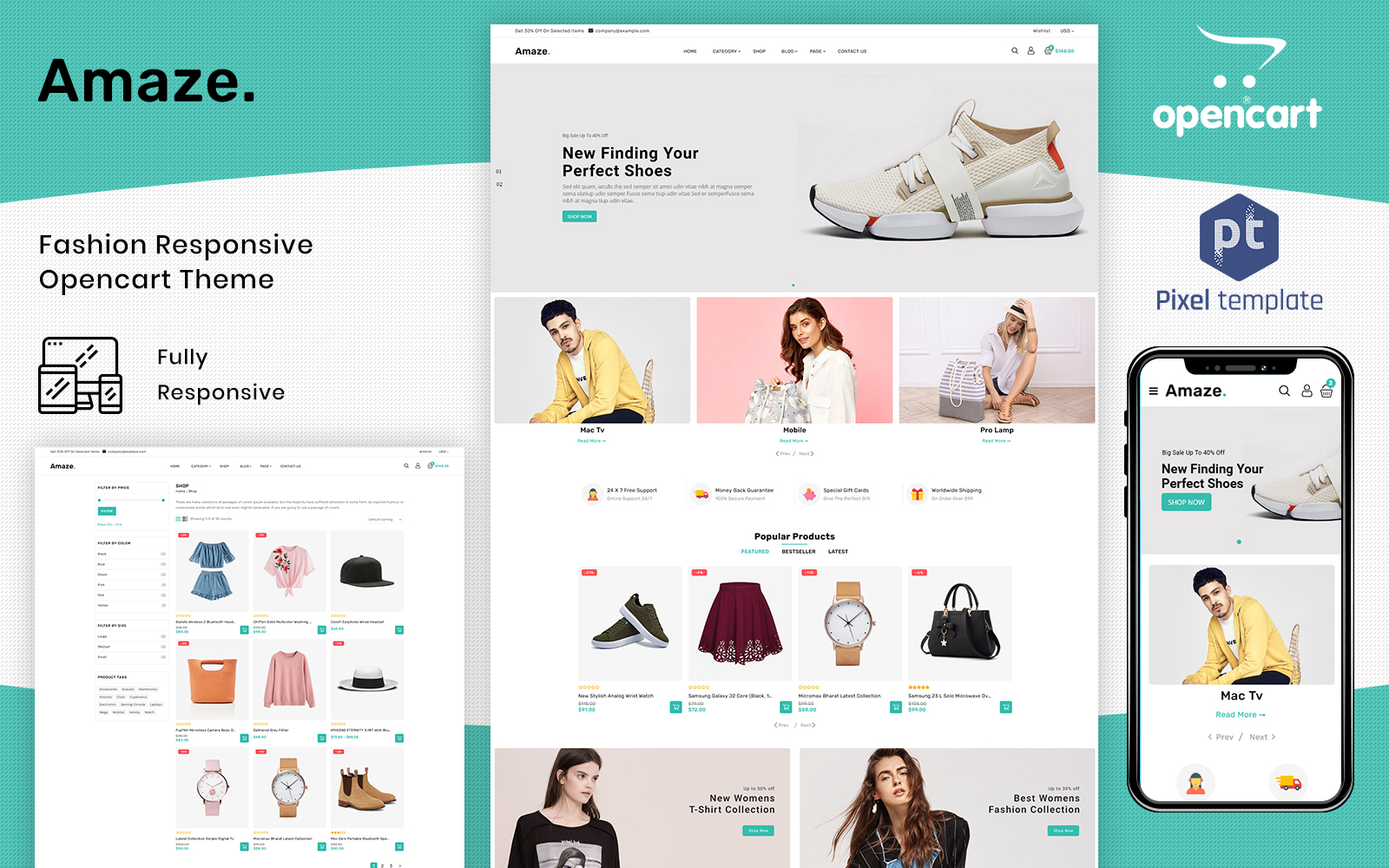 Amaze - Responsive Fashion & Accessory OpenCart Template