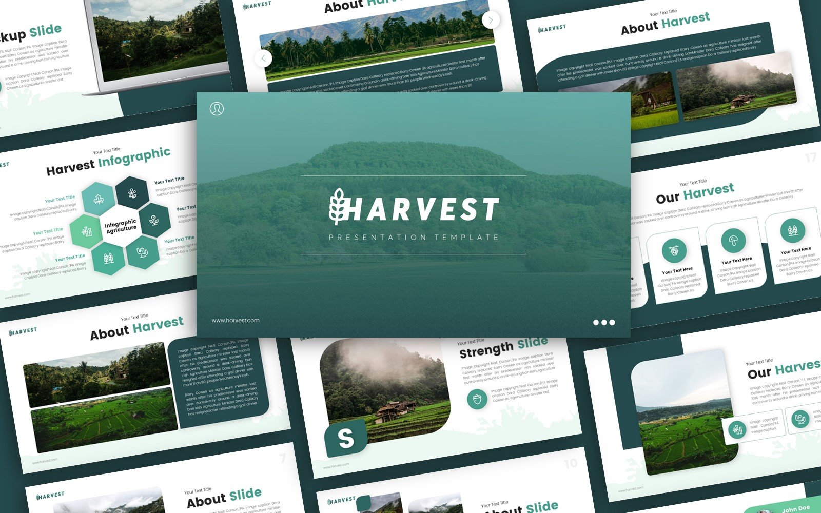 Harvest Agriculture Presentation PowerPoint Template