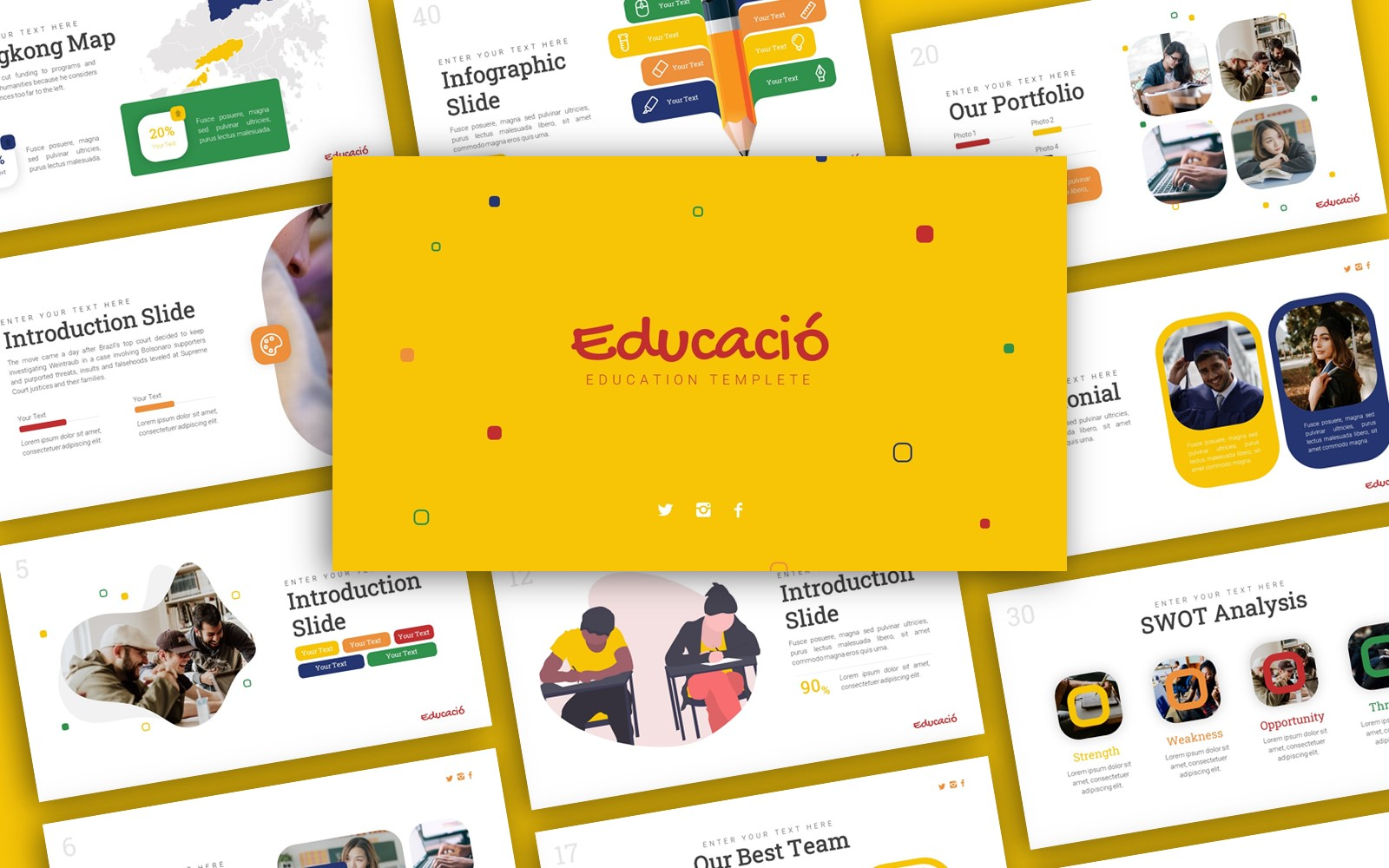 Educació Education Presentation PowerPoint Template