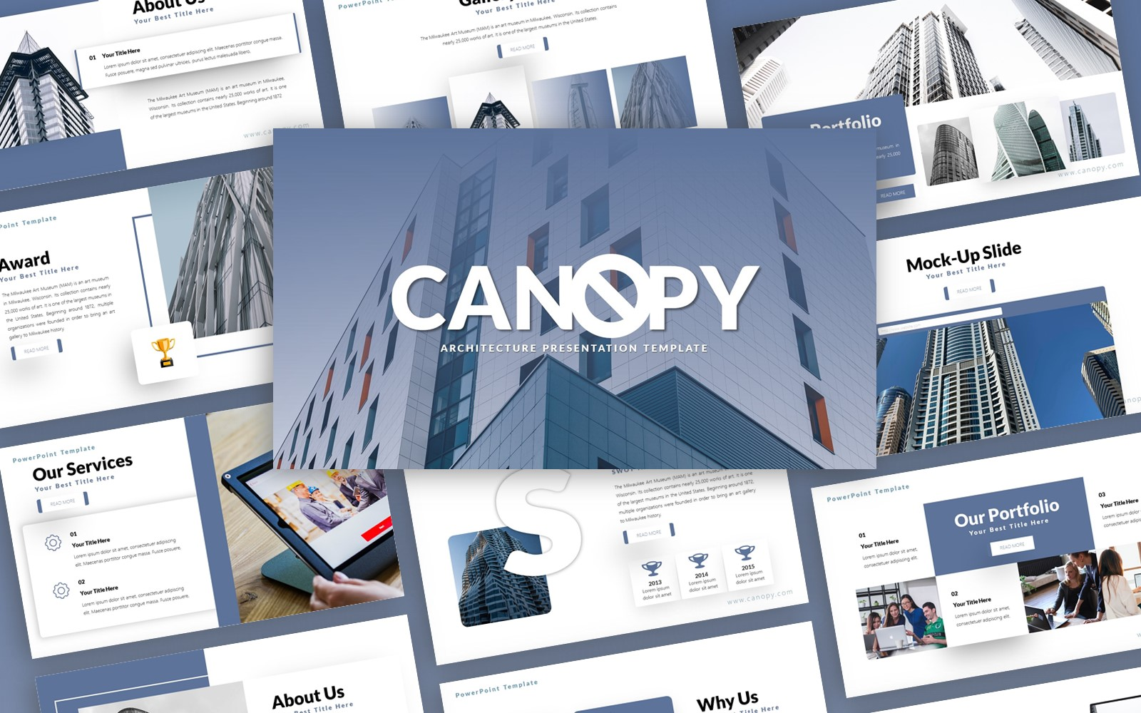 Canopy Architecture Presentation PowerPoint Template