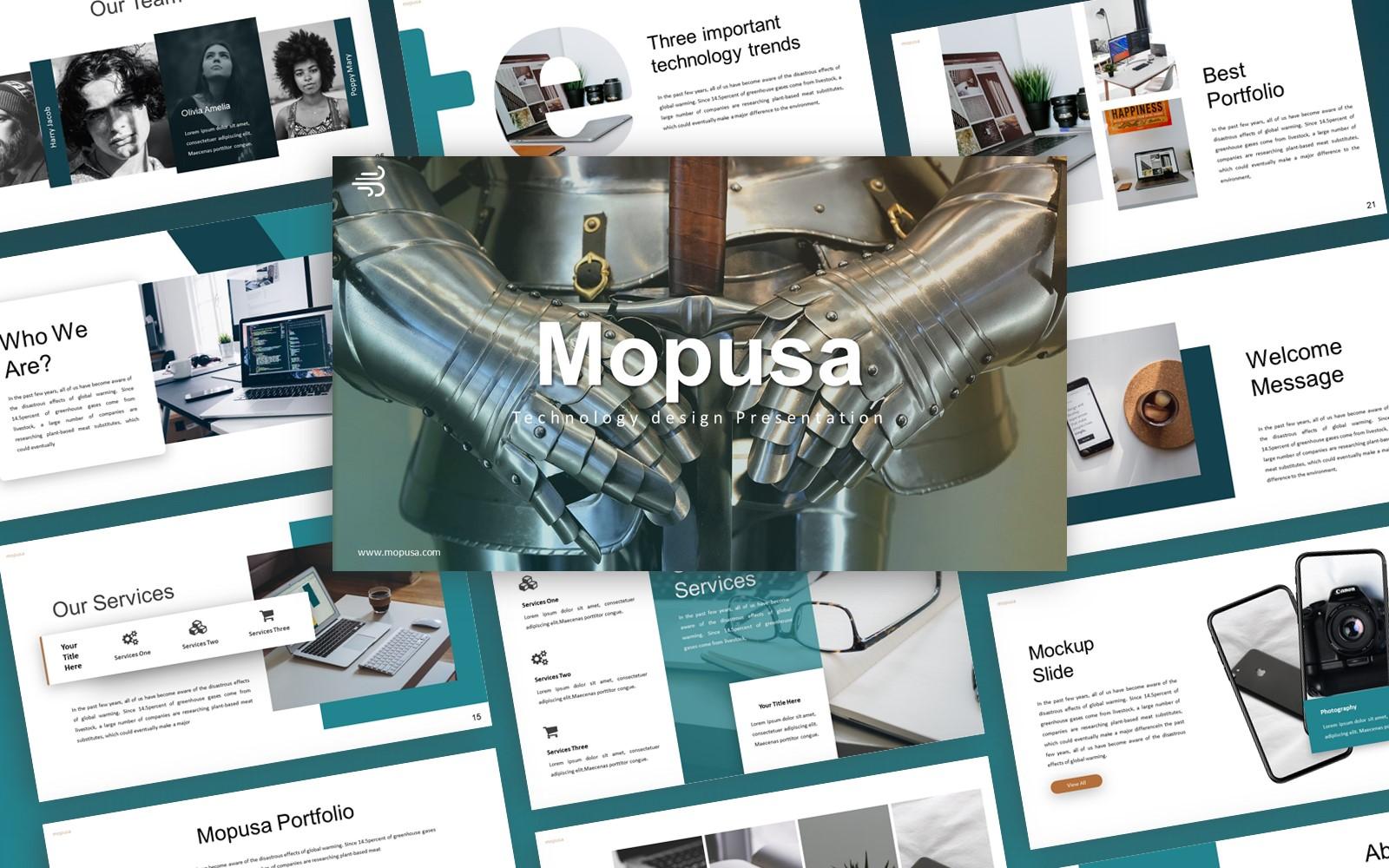 Mopusa Technology Presentation PowerPoint Template