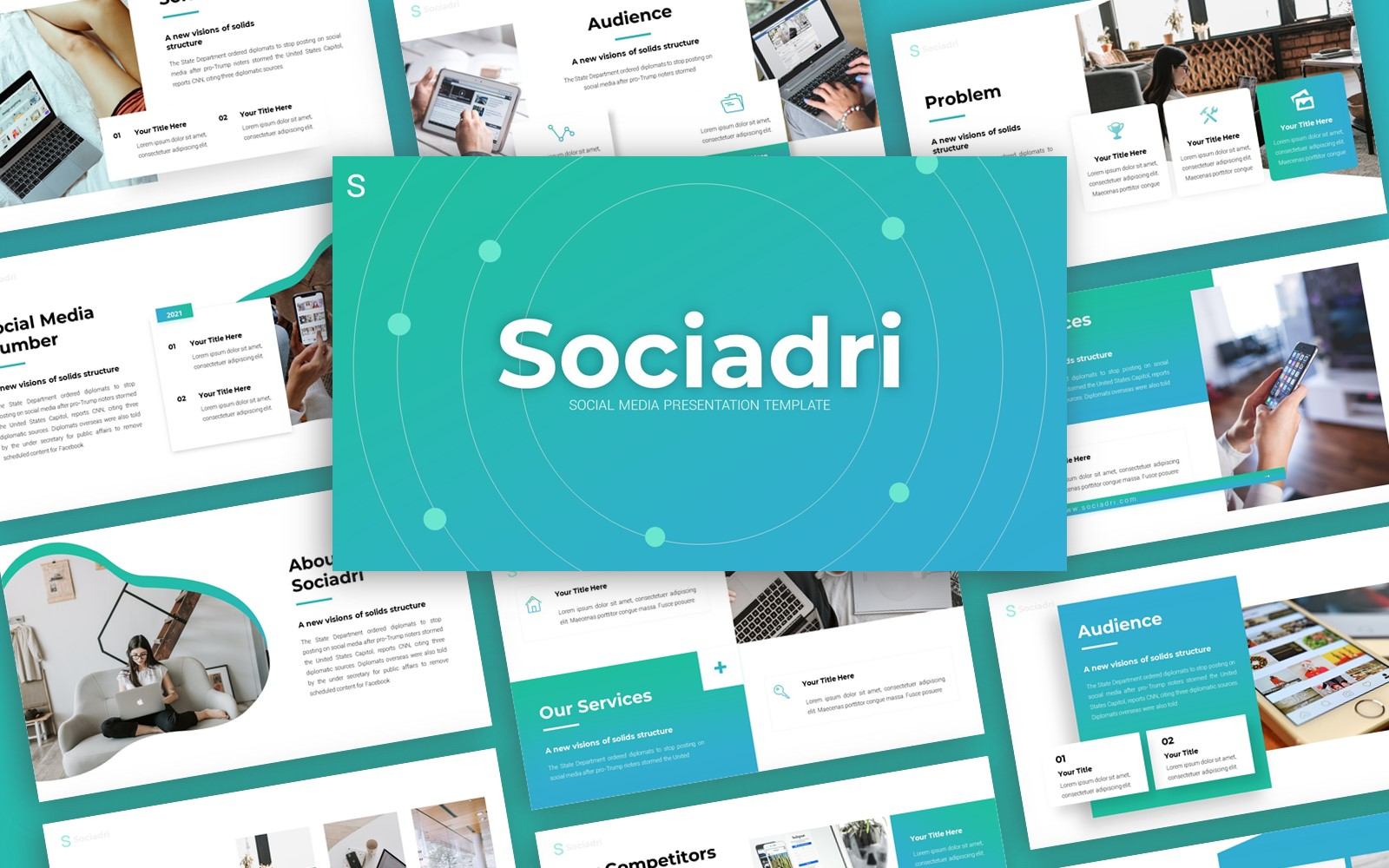 Sociadri Social Media Presentation PowerPoint Template