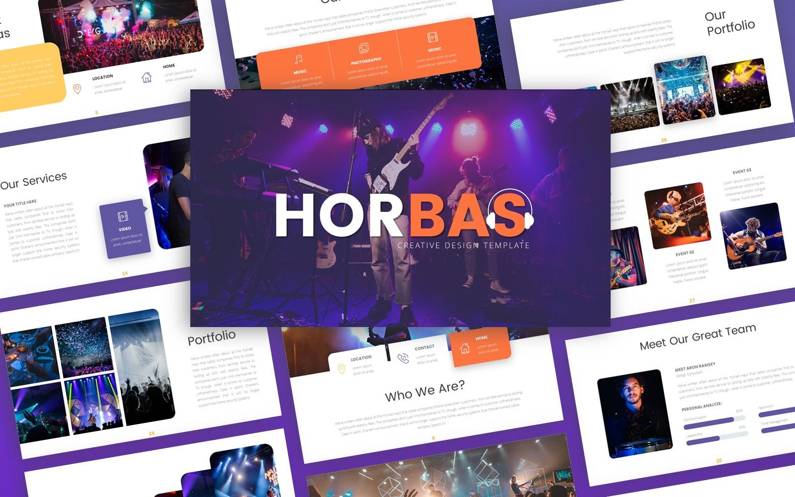 Horbas Music Presentation PowerPoint Template