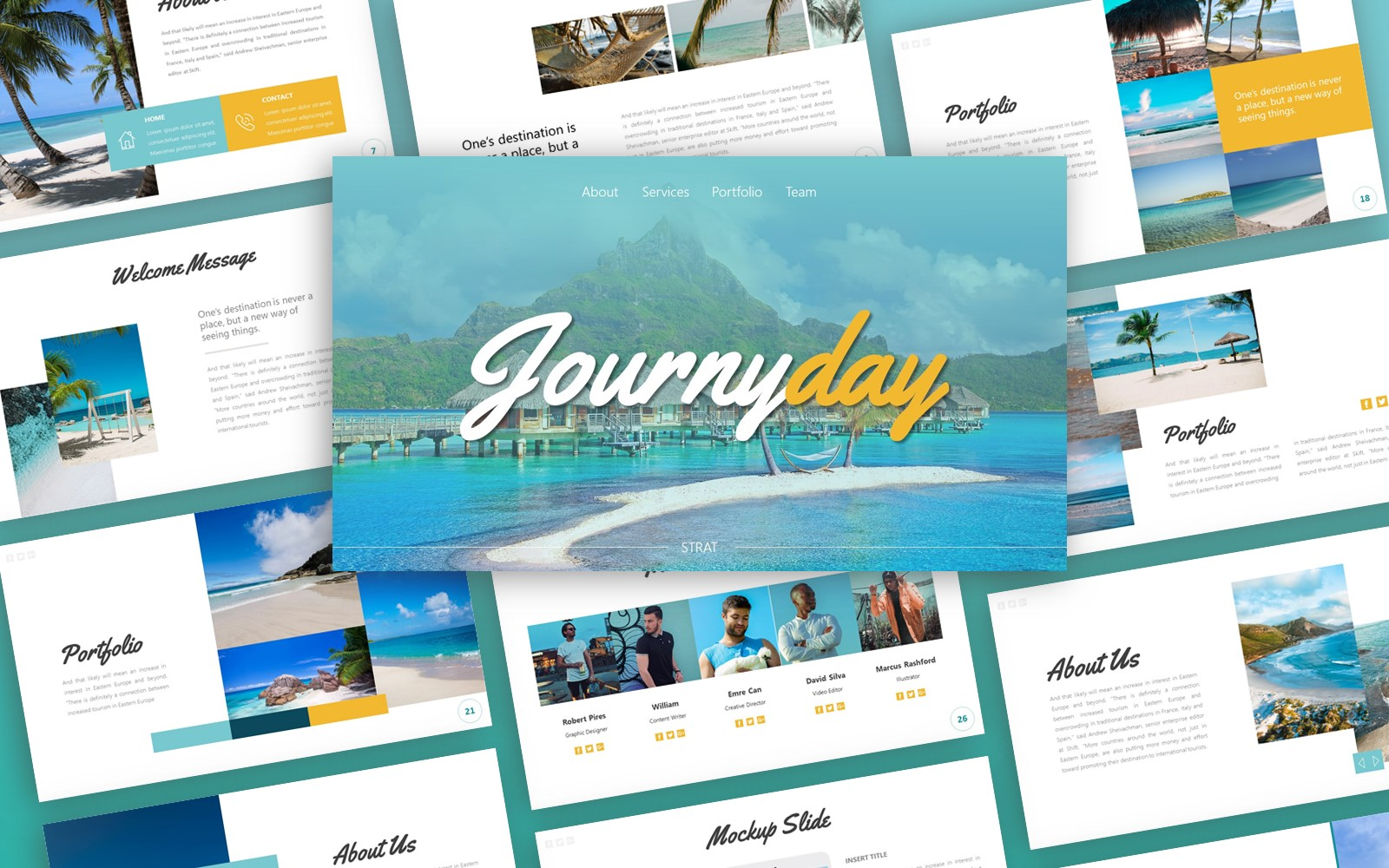 Journyday Traveling Presentation PowerPoint Template