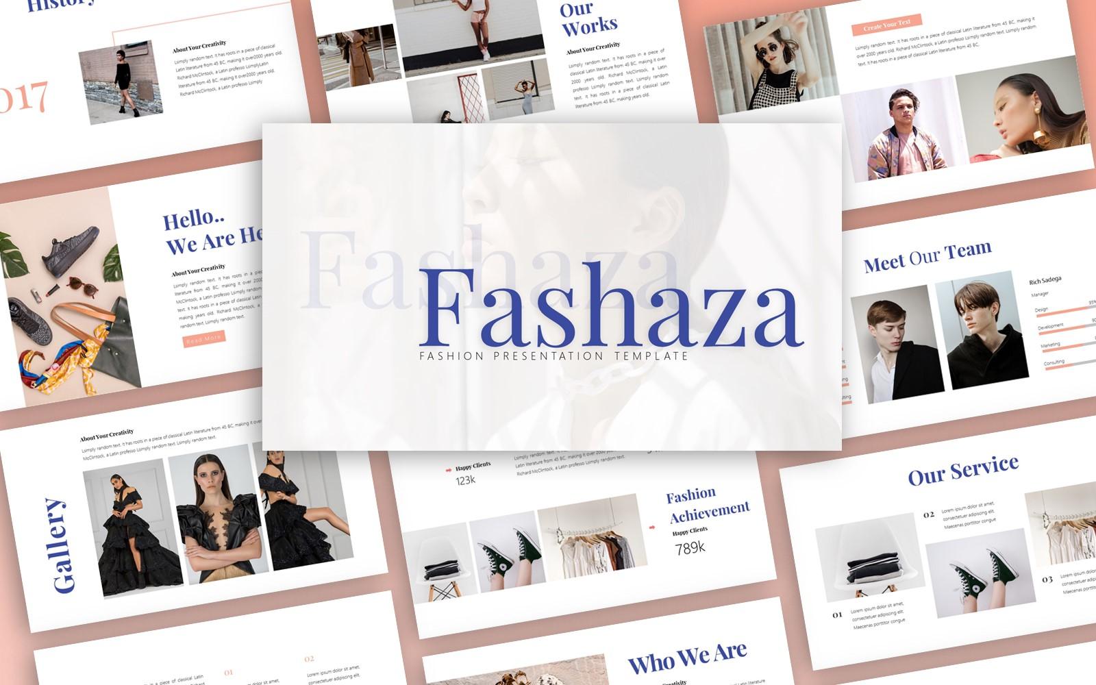 Fashaza Fashion Presentation PowerPoint Template