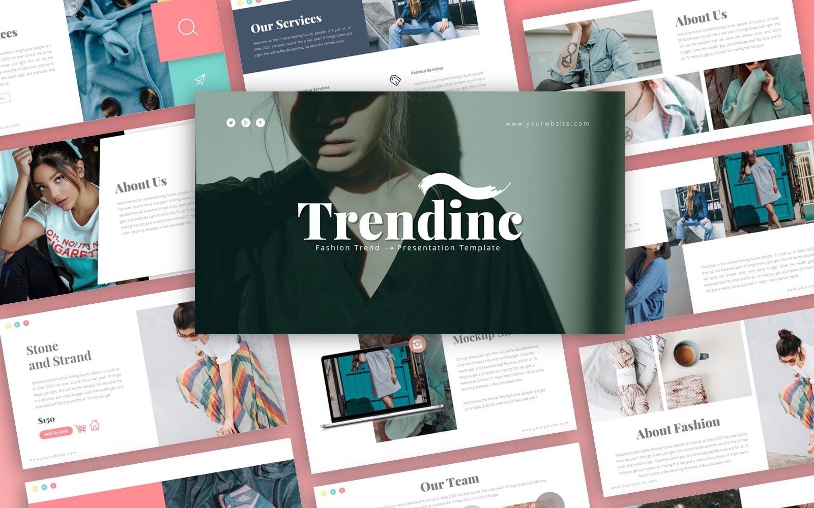 Trendinc Fashion Presentation PowerPoint Template