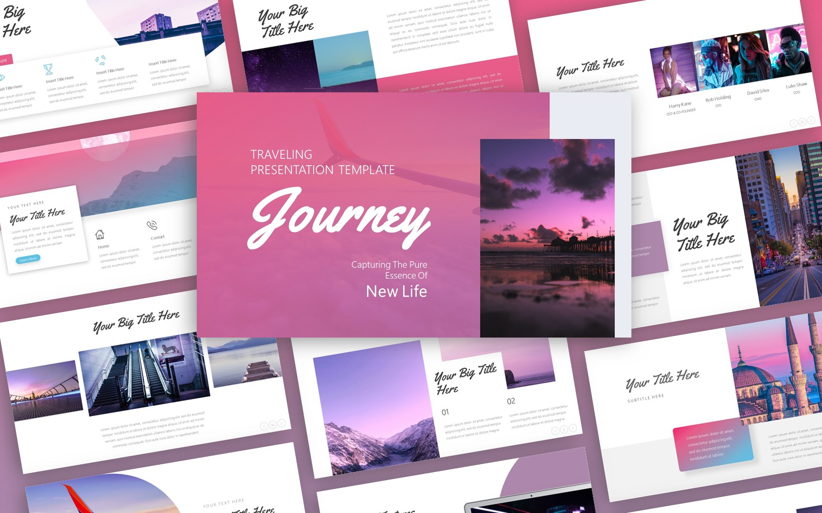 Journey Traveling Presentation PowerPoint Template