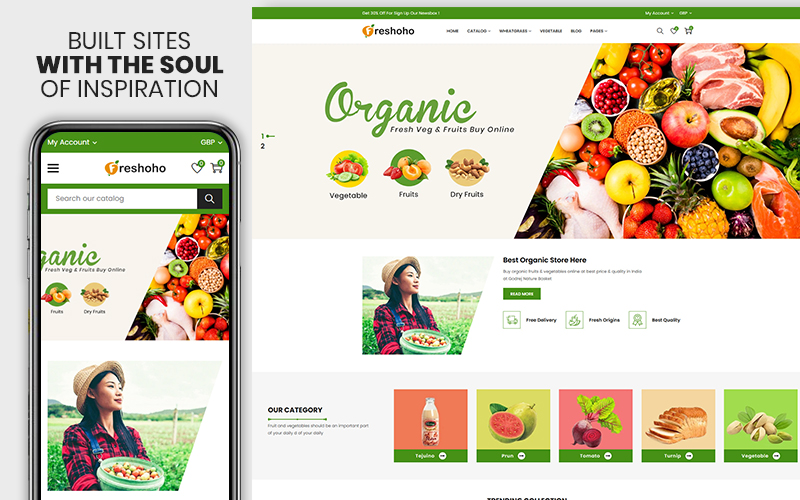 Freshoho - Vegetables & Fruits Premium Shopify Theme
