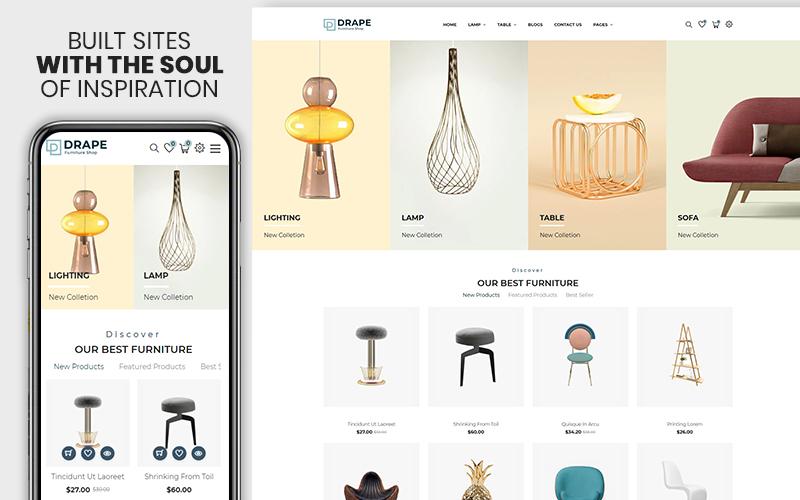 Drap - Furniture & Interior Bootstrap Shopify Theme