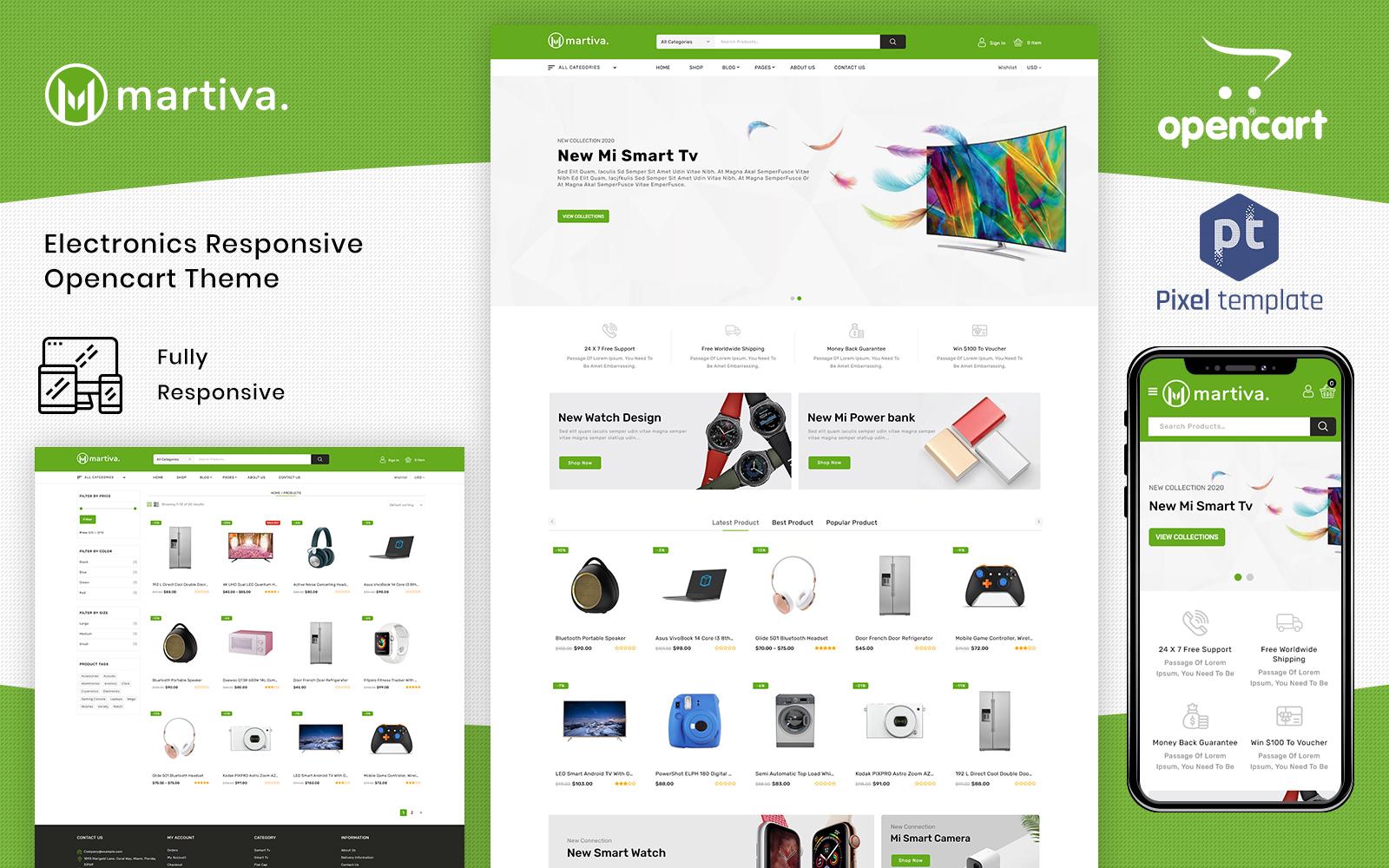 Martiva - Mega Multipurpose OpenCart Template