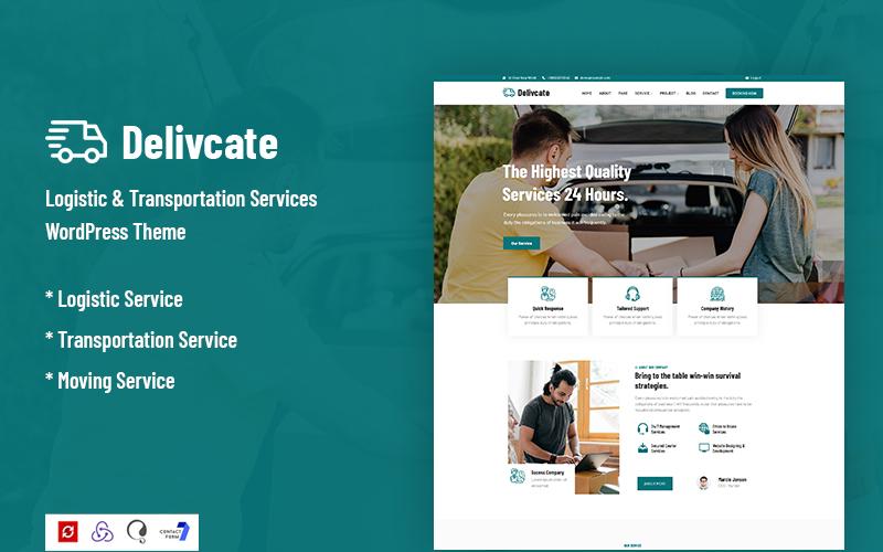 Delivcate – Logistic & Transportation Service WordPress Theme