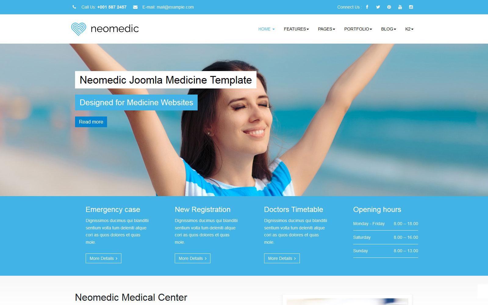 Joomla 架站內容管理系統模板