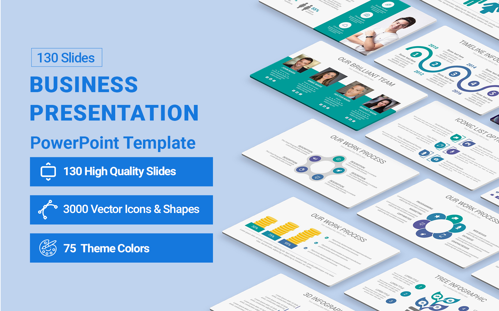 Business Presentation Diagrams PowerPoint Template