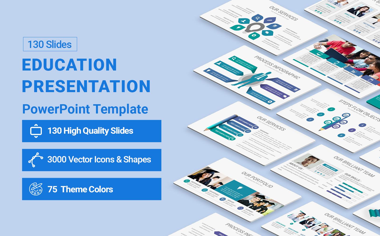 Education  Presentation PowerPoint Template