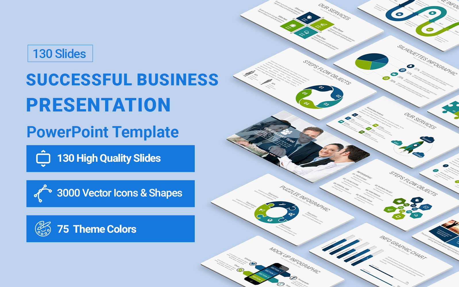 Successful Business  Presentation PowerPoint Template
